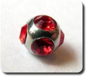 Micro Tiffany Kugel 4mm rot