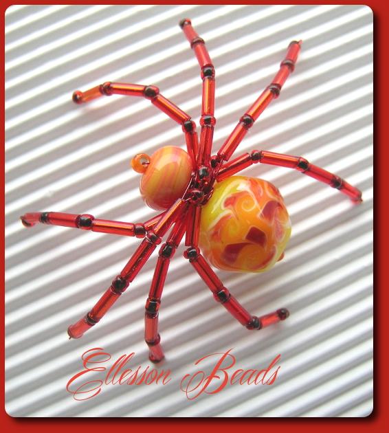 Spinne Lausanne Glasperlen